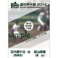 夏の甲子園2014 1回戦 日大鶴ケ丘(西東京) 対 富山商業(富山)