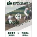 夏の甲子園2014 1回戦 鹿屋中央(鹿児島) 対 市和歌山(和歌山)
