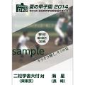 夏の甲子園2014 2回戦 二松学舎大付(東東京) 対 海星(長崎)
