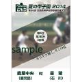 夏の甲子園2014 2回戦 鹿屋中央(鹿児島) 対 星稜(石川)