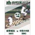 夏の甲子園2015 1回戦 岐阜城北(岐阜) 対 中京大中京(愛知)