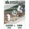 夏の甲子園2015 3回戦 仙台育英(宮城) 対 花巻東(岩手)