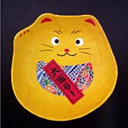 和紙トレー小豆 招き猫