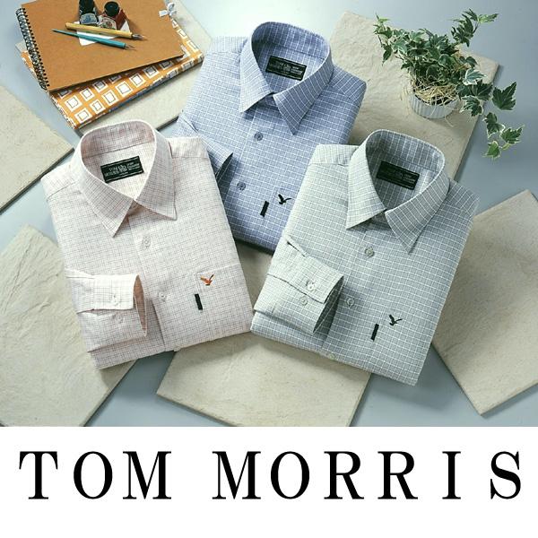 トムモリス メンズカジュアルシャツ チェック柄3色組