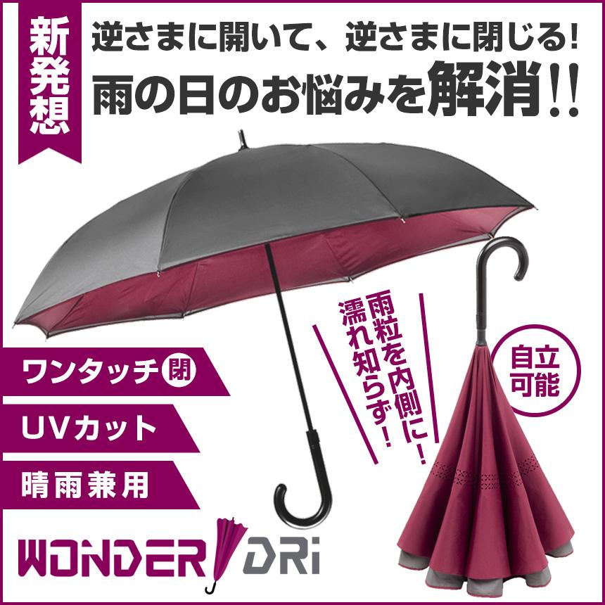 濡れ知らずの逆さ二重傘ワンダードリ