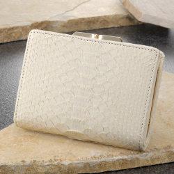 白蛇がま口財布 61238【送料無料】☆財運が上向く白蛇二つ折り財布 開運グッズの画像
