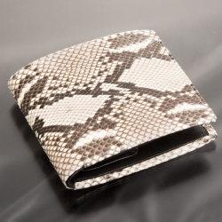 ダイヤモンドパイソン 二つ折り財布 61210☆財運が上向く蛇革ウォレット 開運グッズの画像