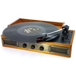 アンティーク調ラジオ&レコードプレーヤー☆あなたの懐かしい思い出を呼び出すレコードプレーヤーの画像