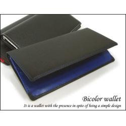 Bicolor wallet 2トーンカラー長財布☆シンプルなデザイン!収納豊富で使い勝手は抜群!プレゼントにもおすすめ!の画像