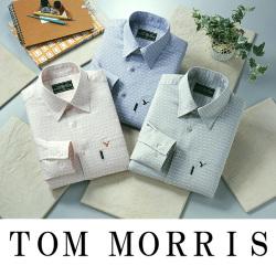 トムモリス メンズカジュアルシャツ チェック柄3色組☆カジュアルスタイルやスーツのインナーに!の画像