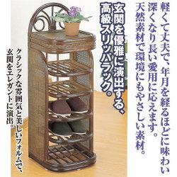 【メーカー直送・代引不可】スリッパラック・クラシック☆玄関を優雅に演出する、高級スリッパラックの画像