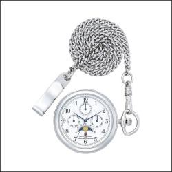 シチズン FREE WAY ポケットウォッチコレクション 懐中時計 AA92-4201L☆幅広い年齢層にお使いいただける人気のムーンフェイズ!の画像