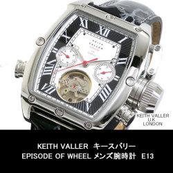 KEITH VALLERキースバリーEPISODE OF WHEELメンズ腕時計E13【送料無料】☆ロンドンのデザイナー、キースバリー個性溢れるデザイン!の画像