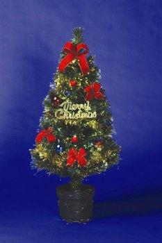 ファイバーセットツリースタンダード90cm☆クリスマスツリーデコライトの画像