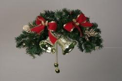 《完売》ドアスワッグ ツインベル 40cm☆ドアや壁に飾る、クリスマス飾り