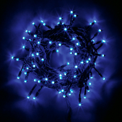 LED100球ライト ブルー☆アウトドア対応クリスマスイルミネーションの画像
