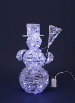 LEDPVCスノーマンライト【送料無料】☆アウトドア対応クリスマスイルミネーションの画像