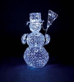 LEDアイスロックスノーマンライト【送料無料】☆高さ約70cmスノーマンのクリスマスイルミネーションの画像