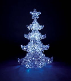 LEDアイスロックツリーライト【送料無料】☆高さ約94cmアイスロックツリーのクリスマスイルミネーションの画像