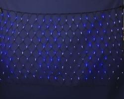 LEDネットライト180  ブルー・ホワイト【送料無料】☆クリスマスイルミネーション・お庭や玄関先のデコーレーションにの画像