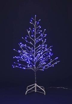 LEDビーズシルバーツリー120【送料無料】☆クリスマスイルミネーション・お庭や玄関先のデコーレーションにの画像