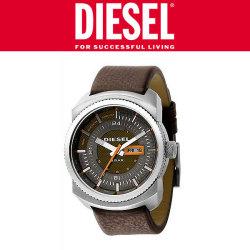 DIESEL腕時計 DZ1259 メンズ【送料無料】☆シックなブラウンの中にオレンジでつけた遊び心がポイントの画像