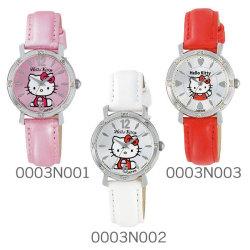 シチズン Q&Q Hello Kitty ハローキティウォッチ JAPANモデル 0003Nシリーズ(ラインストーン)☆大人気のハローキティの腕時計が登場!の画像