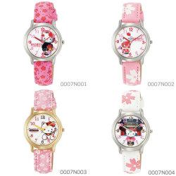 シチズン Q&Q Hello Kitty ハローキティウォッチ JAPANモデル 0007Nシリーズ(和柄)☆大人気のハローキティの腕時計が登場!の画像