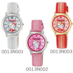 シチズン Q&Q Hello Kitty ハローキティウォッチ JAPANモデル 0011Nシリーズ(レース柄)☆大人気のハローキティの腕時計が登場!の画像