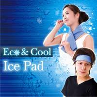 ECO&COOL アイスパッドL 2枚セット☆水に浸すだけで、速効ひんやりアイスパッド!!の画像