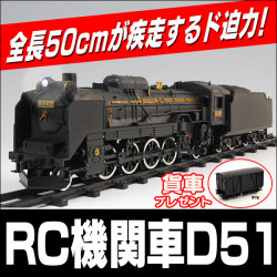 ≪完売≫RC機関車D51☆今なら貨車プレゼント!ラジコン D51 498号機【送料無料】【新聞掲載】プレゼン