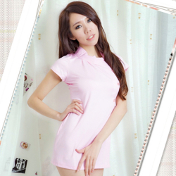 ピンクの看護婦のナースコスプレ*コスチューム☆イベントやクリスマスパーティーに♪コスプレの画像