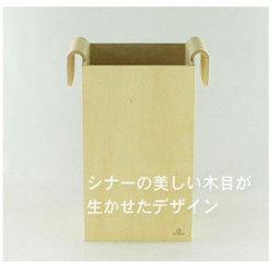 大和工芸手作り R CUBE ダストボックス YK-06-005☆ナチュラル感たっぷりのダストボックスの画像
