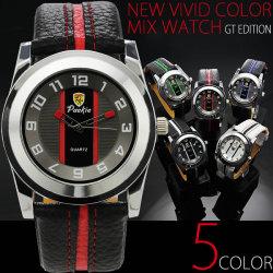 NEWヴィヴィッドカラー切り替え腕時計☆レーシングカーを彷彿させるスポーティーなカラーリングの画像