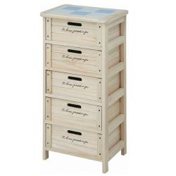 【メーカー直送・代引不可】木製5段ボックス HF05-004(N)☆どこにでも似合うおしゃれなチェスト♪[大型送料1000円]の画像