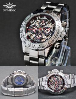 DOMINIC ドミニク メンズ腕時計 DS1108G-BB☆奇抜なデザイン性と面白いギミックに注目!の画像