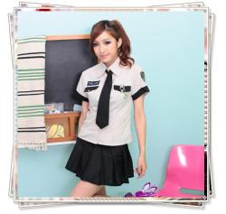 5341 可愛い系のネクタイ付リアル婦人警官さんコスプレ☆イベントやパーティーにコスプレ!の画像