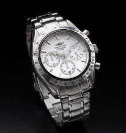 シャルルホーゲルクロノグラフ メンズ腕時計 CV7871-2ホワイト☆人気のメンズ腕時計クロノグラフデザインの画像