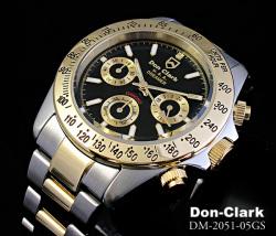 ダンクラーク メンズ腕時計 DM2051コンビブラック☆人気のメンズ腕時計クロノグラフデザインの画像