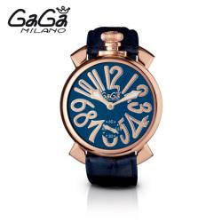 ガガミラノ GaGa MILANO 手巻き腕時計 マヌアーレ MANUALE 48mm ゴールドプレート(18K PVD) 5011.5【送料無料】☆クラシックな感じ!の画像