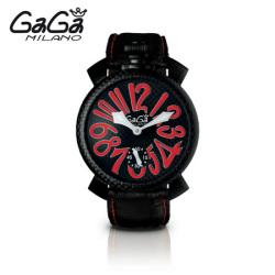 ガガミラノ GaGa MILANO 手巻き腕時計 マヌアーレ MANUALE 48mm 限定モデル 5016.8【送料無料】☆普通のモデルでは満足できない人に!の画像