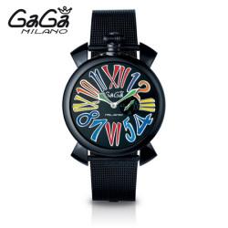 ガガミラノ GaGa MILANO クォーツ腕時計 スリム SLIM 46mm ブラック PVD 5082.1【送料無料】☆時代にとらわれない美しさ!の画像