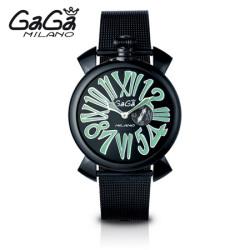 ガガミラノ GaGa MILANO クォーツ腕時計 スリム SLIM 46mm ブラック PVD 5082.2【送料無料】☆時代にとらわれない美しさ!の画像