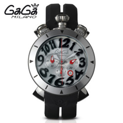 ガガミラノ GaGa MILANO クォーツ腕時計 クロノ CHRONO 48mm ステンレス 6050.7【送料無料】☆完全オリジナルの新作クロノクォーツ!の画像