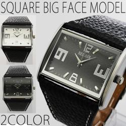 NEWスクエアビッグフェイス腕時計AC-W-DX6☆ブレスレット感覚で活用できる極太ベルトを使用した腕時計の画像