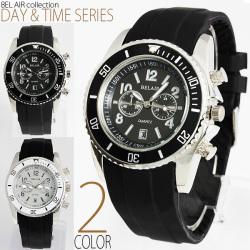 ミディアムフェイス&ラバーベルト腕時計AC-W-INE33☆横長タイプのビッグフェイス&極太ベルトでインパクト大の画像