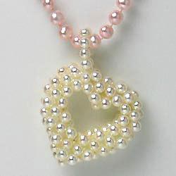 淡水真珠ハートトップネックレス 160897の画像