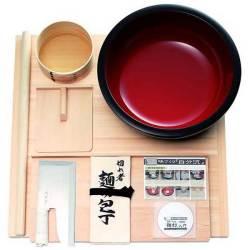 麺打セット 雅 そば・うどんDVD付【送料無料】☆本格的な道具を揃えたプロ使用麺打ちセットの画像