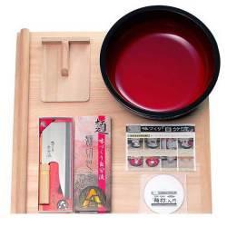 家庭用麺打セットA そば・うどんDVD付【送料無料】☆入門DVDの付いた蕎麦打ち・うどん打ちに必要な道具のセットの画像