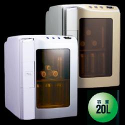 冷温庫20L EAR-20D-W【ホワイト】【送料無料】☆リビングやお部屋にマイ冷蔵庫!の画像